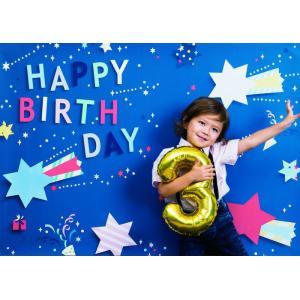 イエスタ Happy Birthday ポップスター ブルー インスタ映え 写真館 パーティーグッズ 記念写真 背景 誕生日 スタジオ|arune