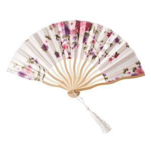 花鳥風月 扇子 白 コスプレ 和柄 和風 プチプラ レディース コスチューム 仮装 変身|arune