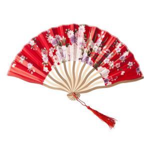 花鳥風月 扇子 紅 コスプレ 和柄 和風 プチプラ レディース コスチューム 仮装 変身 arune