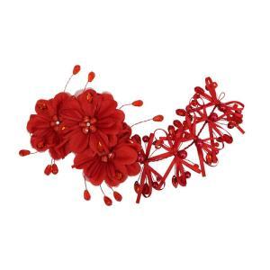 花鳥風月 枝垂れ髪飾り コスプレ 和柄 和風 プチプラ レディース コスチューム 仮装 変身|arune