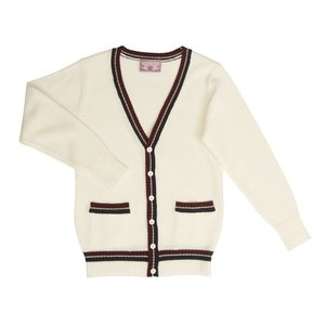 TE-18SS カーディガン ライン ホワイト L TeensEver JK 女子高生 高校 中学 制服 ファッション|arune