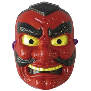民芸品お面 天狗 和柄 和風 マスク 仮面  仮装 変身|arune