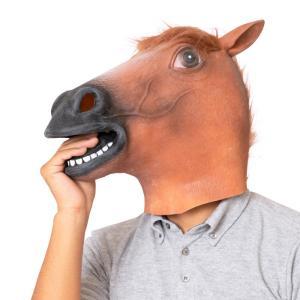 ラバーマスク 茶馬 仮装 マスクなりきり アニマル 動物 競馬|arune