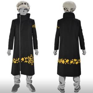 トラファルガー ロー 新世界ver. コート&帽子 ワンピース ONE PIECE 仮装 コスチューム 大人 コスプレ 衣装|arune