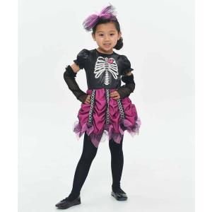 KORENARA ピンクスカル キッズ 女の子 親子でお揃い コスチューム 衣装 仮装 ハロウィン コスプレ|arune