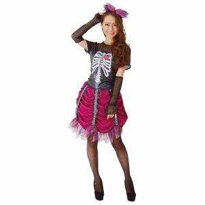 KORENARA ピンクスカル 女性 レディース 親子でお揃い コスプレ コスチューム 仮装 衣装 ハロウィン|arune