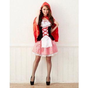 KORENARA 赤ずきん 女性 レディース 親子でお揃い ハロウィン 衣装 コスプレ 仮装 コスチューム|arune