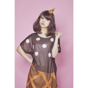 POP ICE チョコクッキー ウィッグ+コスチューム レディーズ 女性用 ハロウィン ハロウィン 仮装 衣装 コスチューム コスプレ|arune