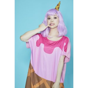 POP ICE ストロベリー ウィッグ+コスチューム レディーズ 女性用 ハロウィン ハロウィン 仮装 衣装 コスチューム コスプレ|arune