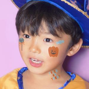 KIDSシール かぼちゃとおかし ハロウィン ハロウィン 仮装 コスプレ 簡単 メイクアップ プチプラ|arune