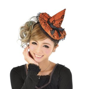 ウィッチハットカチューシャM ヘアアクセサリー ヘッドピース 髪飾り 魔女 仮装 コスプレ コスチューム ハロウィン 衣装|arune