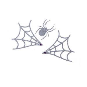 グリッタータトゥースパイダーB メイクアップ タトゥーシール グリッターシール 衣装 コスプレ コスチューム 仮装 ハロウィン|arune