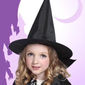 アングルハットウィッチ 子供 キッズ ヘアアクセサリー ヘッドピース 髪飾り 帽子 魔女 仮装 コスプレ ハロウィン 衣装 コスチューム|arune