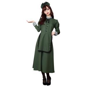 洋館メイド レディース 女性 ホーンテッドマンション コスプレ ハロウィン 衣装 コスチューム 仮装|arune