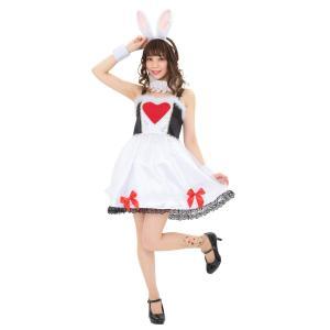 ハロウィンプレゼント付 ワンダーラビットガール レディース 女性 不思議の国のアリス 仮装 ハロウィン 衣装 コスチューム コスプレ|arune
