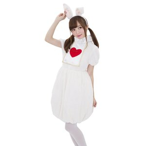 ハロウィンプレゼント付 フラッフィーバニーガール 不思議の国のアリス レディース 女性 仮装 コスプレ コスチューム ハロウィン 衣装|arune