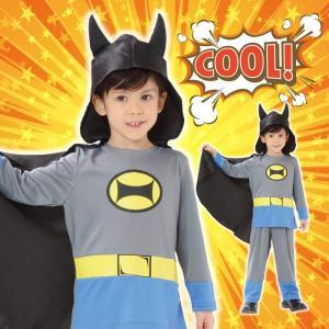 ブラックヒーロー 120 バットマン キッズ 男の子 コスチューム コスプレ ハロウィン 衣装 仮装|arune
