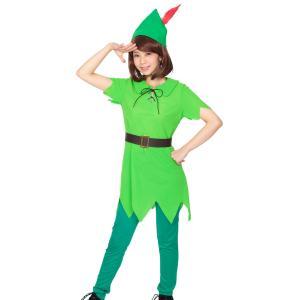 ファンタジーボーイ ピーターパン レディース 女性 ハロウィン コスプレ 衣装 コスチューム 仮装|arune