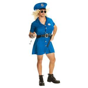大人 ポリスマン 女装用警察官 胸パッド付き 男性 メンズ コスチューム コスプレ 仮装 ハロウィン 衣装|arune