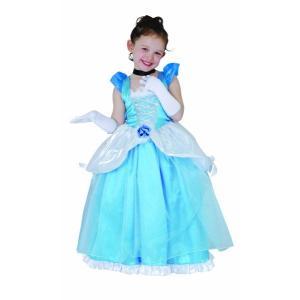 子供 デラックスシンデレラS 100-120cm対応 女の子 ディズニープリンセス コスプレ コスチューム ハロウィン 仮装 衣装|arune