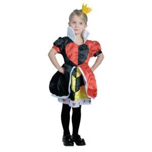 子供 ハートの女王 M 120-140cm対応 女の子 不思議の国のアリス ディズニー 衣装 仮装 コスプレ ハロウィン コスチューム|arune