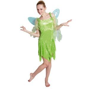大人 ティンカーベル レディース 女性 ピーターパン ディズニー コスチューム コスプレ 仮装 ハロウィン 衣装|arune