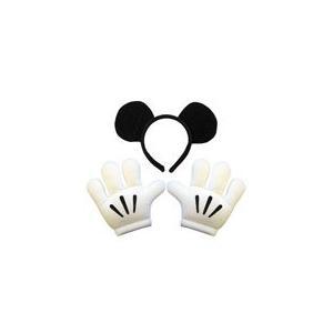 ミッキーヘッドバンド&グローブセット ディズニー 衣装 ハロウィン コスチューム 仮装 コスプレ|arune