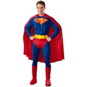 大人 デラックススーパーマンM アメコミ 仮装 衣装 コスプレ ハロウィン コスチューム|arune