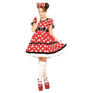 大人 ゴシックレッドミニー レディース 女性 ディズニー コスプレ コスチューム 仮装 ハロウィン 衣装|arune
