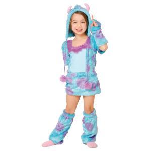 ハロウィンプレゼント付 子供 サリーS 100-120cm対応 女の子 ディズニー モンスターズインク ハロウィン コスプレ コスチューム 衣装 仮装|arune