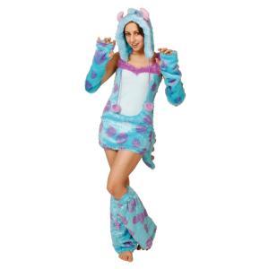 大人 サリー レディース 女性 ディズニー モンスターズインク 仮装 衣装 コスプレ コスチューム ハロウィン|arune