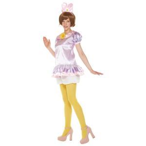 在庫限り 大人 パステルデイジー レディース 女性 ディズニー ドナルド デイジー ハロウィン コスプレ 仮装 衣装 コスチューム|arune