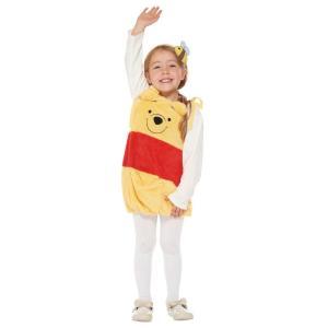 子供 サロペットプー 女の子 男の子 ディズニー くまのプーさん ハロウィン 衣装 仮装 コスチューム コスプレ|arune