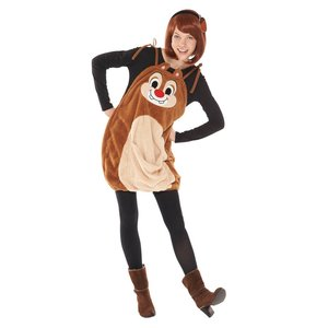 ハロウィンプレゼント付 大人 サロペットデール レディース 女性 ディズニー チップとデール 衣装 ハロウィン コスプレ コスチューム 仮装|arune