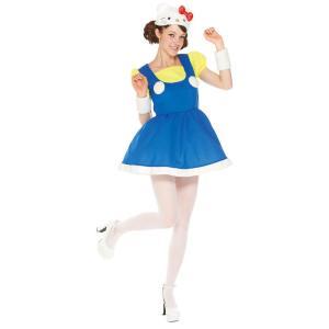 大人 ハローキティ レディース 女性 サンリオ ハローキティ マイメロ プリン コスチューム 仮装 ハロウィン 衣装 コスプレ|arune