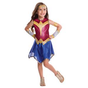 子供 ワンダーウーマン BVS Mサイズ 120-140cm対応 キッズ 女の子 仮装 コスプレ ハロウィン コスチューム 衣装|arune
