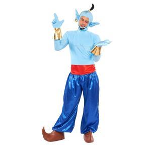 大人 ジニー 男性 メンズ ディズニー アラジンと魔法使い コスチューム 衣装 ハロウィン コスプレ 仮装|arune