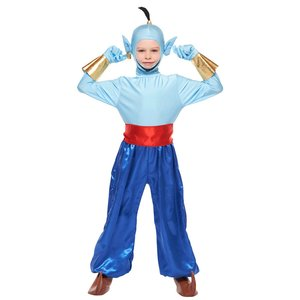 子供 ジニーM 120-140cm対応 男の子 ディズニー アラジンと魔法使い 仮装 衣装 ハロウィン コスプレ コスチューム|arune