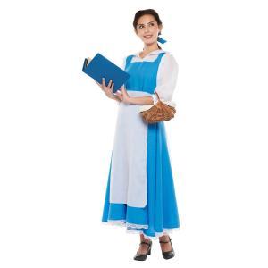 大人 ベル レディース 女性 かわいい ブルー ディズニー ハロウィン コスチューム 仮装 衣装 コスプレ|arune