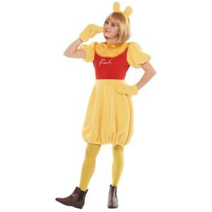大人 プー レディース 女性 かわいい ディズニー くまのプーさん コスチューム 仮装 ハロウィン 衣装 コスプレ|arune