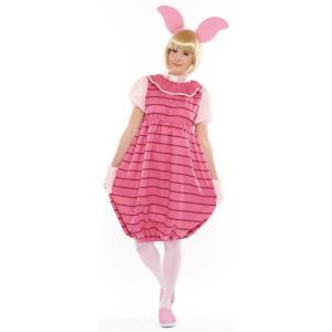 大人 ピグレット レディース 女性 かわいい ピンク ディズニー くまのプーさん 仮装 衣装 コスプレ ハロウィン コスチューム|arune