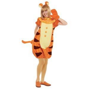 大人 ティガー レディース 女性 かわいい ディズニー くまのプーさん 衣装 ハロウィン 仮装 コスチューム コスプレ|arune