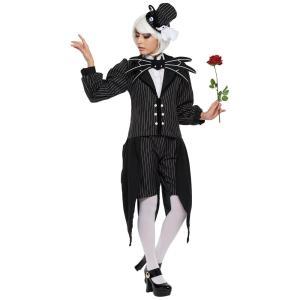 ジャック・スケリントン レディース 女性 ナイトメアビフォアクリスマス ディズニー コスチューム 仮装 コスプレ ハロウィン 衣装|arune
