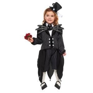 子供 ジャック・スケリントンガールS 100-120cm対応 女の子 ディズニープリンセス コスプレ コスチューム ハロウィン 仮装 衣装|arune