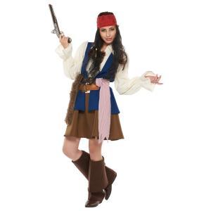 在庫僅少 ジャックスパロウ レディース 女性 かっこいい 海賊 ディズニー パイレーツオブカリビアン 仮装 ハロウィン コスチューム コスプレ 衣装|arune