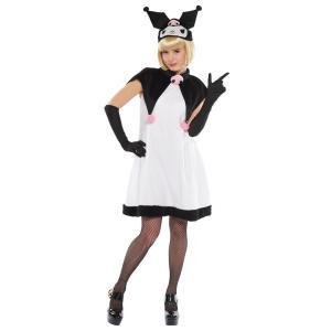 大人 クロミ サンリオ レディース 女性 ブラック ハロウィン コスチューム 衣装 コスプレ 仮装|arune