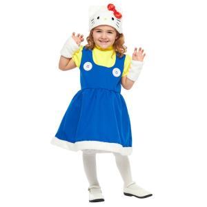 子供 ハローキティS 100-120cm対応 サンリオ キッズ 女の子 コスチューム ハロウィン 衣装 コスプレ 仮装|arune