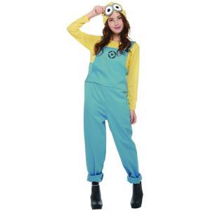 女性 デイブコスチューム(パンツ) レディース 大人 ミニオン 公式ライセンス キャラクター コスチューム ハロウィン 仮装 衣装|arune