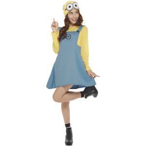 女性 デイブコスチューム(スカート) レディース 大人 ミニオン 公式ライセンス キャラクター コスチューム ハロウィン 仮装 衣装|arune