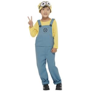 ハロウィンプレゼント付 子供 デイブコスチューム(パンツ)Mサイズ キッズ 男の子 女の子 ミニオン 公式ライセンス キャラクター コスチューム  衣装 arune